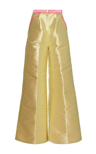 Medium sandra mansour yellow tresor double face mikado pants