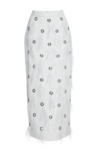 Medium huishan zhang white dahlia skirt