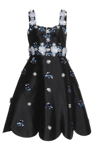 Medium huishan zhang black beaded daisy dress