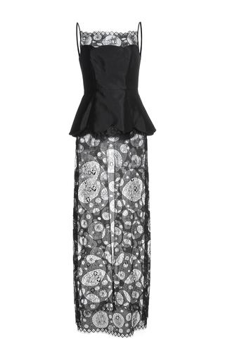 Medium huishan zhang black lace callie dress