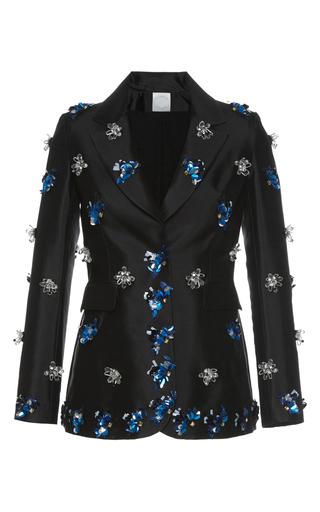 Medium huishan zhang black beaded daisy jacket