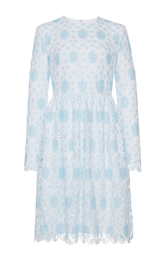 Medium huishan zhang blue crochet lace alexia dress