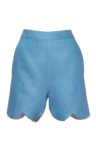 Medium huishan zhang blue denim banu shorts