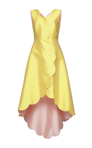 Medium huishan zhang yellow sleeveless banu dress