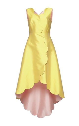 Medium huishan zhang yellow sleeveless banu dress