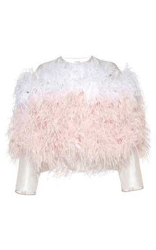 Medium huishan zhang pink organza canetti jacket