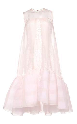 Medium huishan zhang pink organza jodie dress