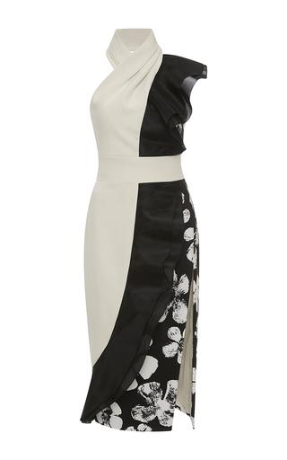 Medium emanuel ungaro multi halter color block side slit dress
