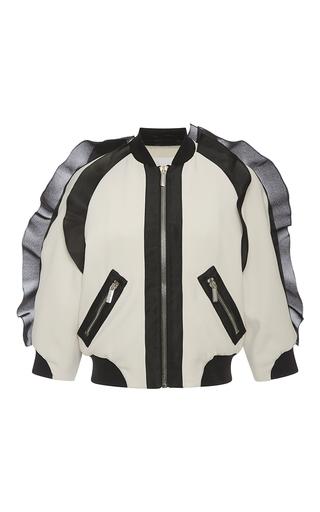 Medium emanuel ungaro pink color block ruffle jacket