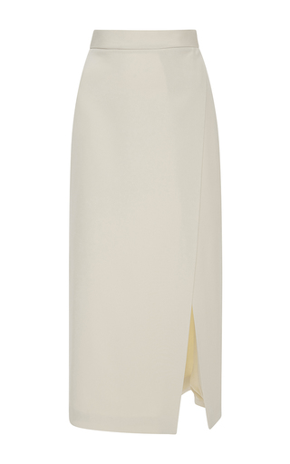 Medium emanuel ungaro white high rise wrap skirt