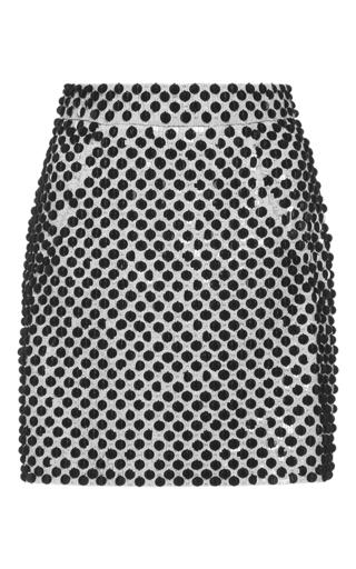 Medium emanuel ungaro white embellished high rise mini skirt