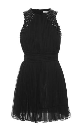 Medium emanuel ungaro black sleeveless embellished pleat dress