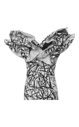 Medium emanuel ungaro white sleeveless ruffle top 2