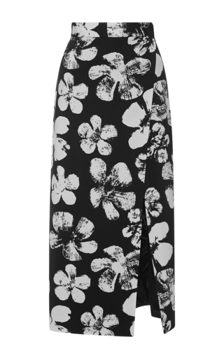 Medium emanuel ungaro print printed high rise wrap skirt