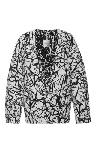 Medium emanuel ungaro print printed long sleeve jacket