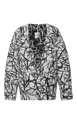 Medium emanuel ungaro print printed long sleeve jacket