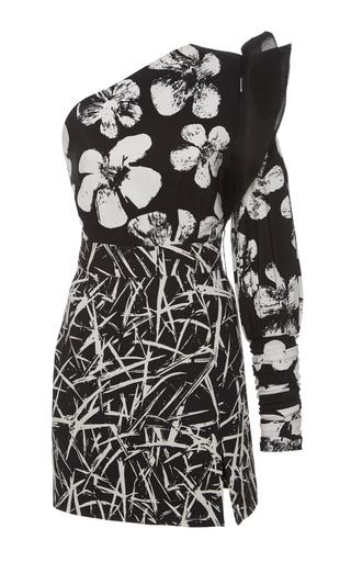 Medium emanuel ungaro print one shoulder double print mini dress