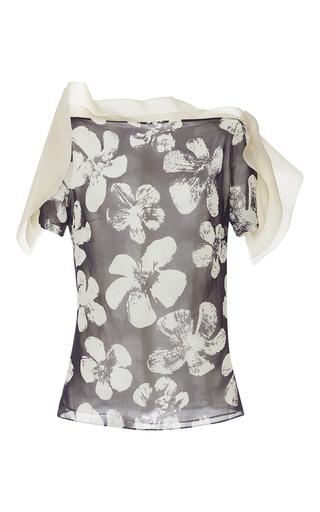 Medium emanuel ungaro print printed ruffle blouse