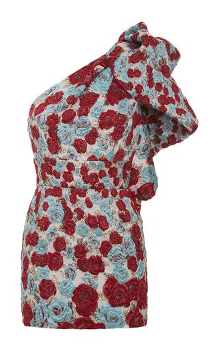 Medium emanuel ungaro multi embroidered one shoulder mini dress