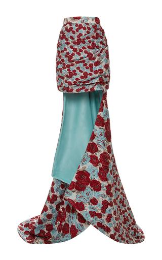 Medium emanuel ungaro multi embroidered high rise mini skirt with train