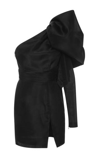 Medium emanuel ungaro black one shoulder long sleeve mini dress
