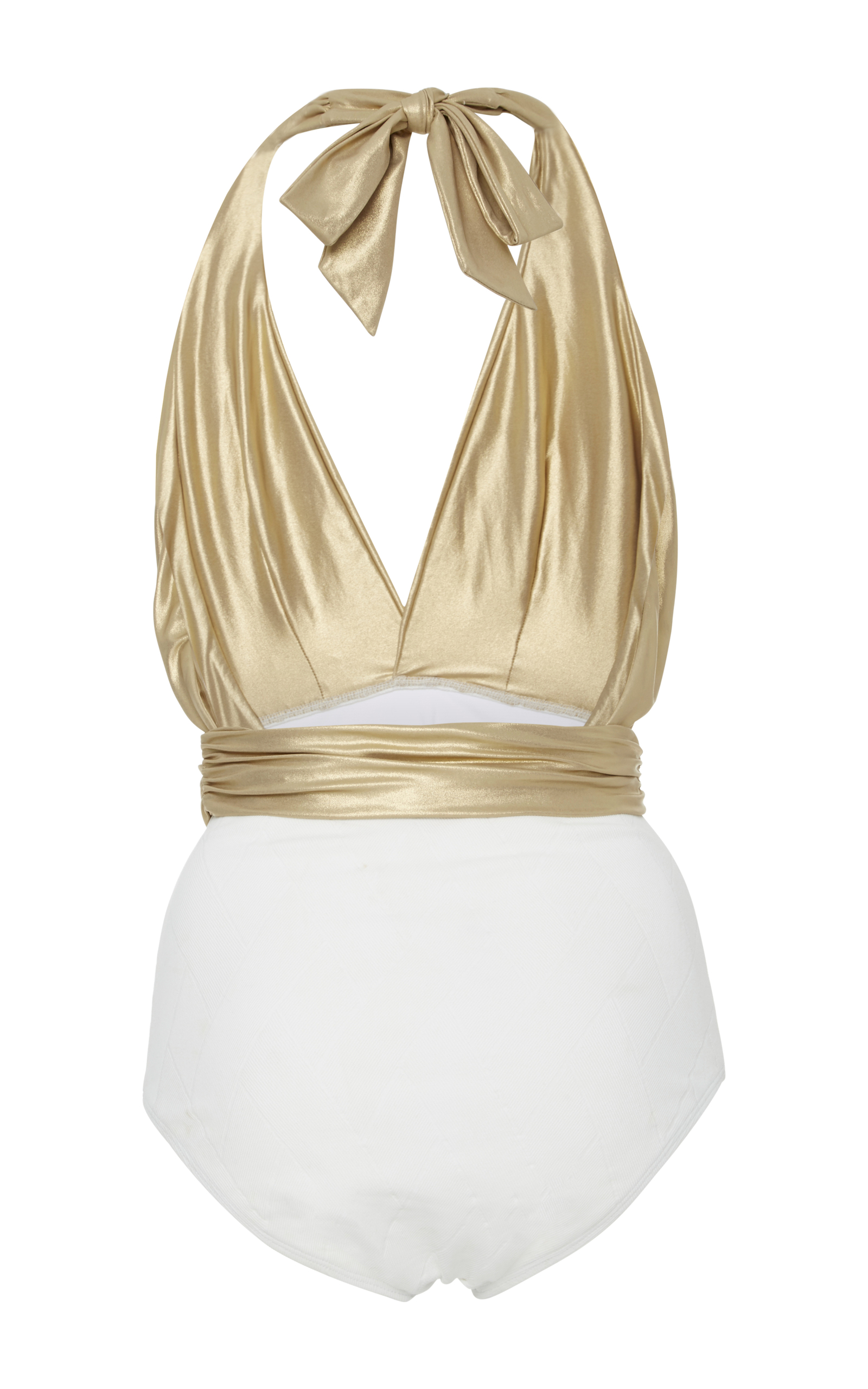 Jerry Metallic Halterneck Swimsuit By Flagpole X Oscar