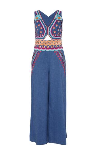 Medium temperley london blue spellbound denim cutout jumpsuit 2
