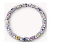 Medium fabio salini multi necklace vertigo with colored sapphires pearls and mother of pearl