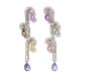 Medium fabio salini multi earrings capricci with diamonds and fancy sapphires