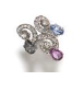 Medium fabio salini multi ring capricci with briolet sapphires and diamonds