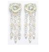 Medium fabio salini white earrings vertigo with moonstones diamonds pearls and mother of pearl