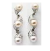 Medium fabio salini white earrings vertigo with pearl diamonds brown diamonds