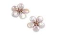 Medium fabio salini pink earrings fiore in gold baroque pearls and diamonds