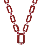 Medium fabio salini red necklace in red galuchat rubies and diamonds
