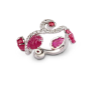 Medium fabio salini red ring bacco with engraved rubies leafs