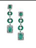 Medium fabio salini green earrings with carved emeralds diamonds and gold