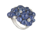 Medium fabio salini blue ring with sapphires diamonds and white gold
