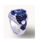 Medium fabio salini blue ring with sapphires diamonds and white gold 2
