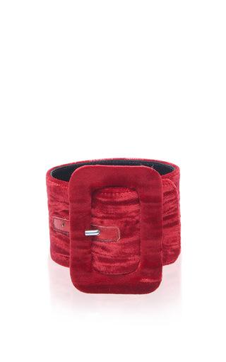 Medium attico red red velvet ankle cuffs