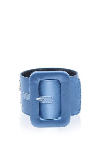 Medium attico light blue embellished ankle cuffs