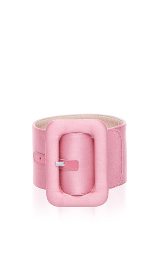 Medium attico pink satin ankle cuffs