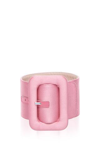 Medium attico pink satin ankle cuffs