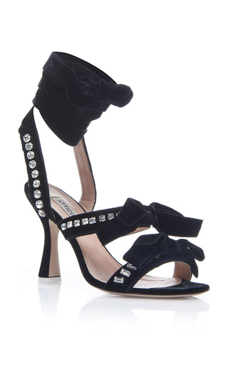 Medium attico black diletta pump sandals
