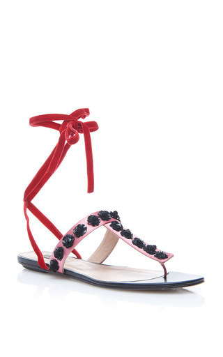 Medium attico pink vanessa flat sandals
