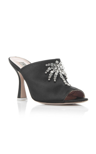 Medium attico black pamela embellished mules