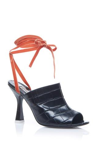 Medium attico black pamela sandal
