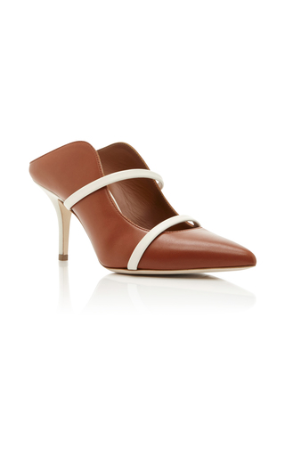 Medium malone souliers tan maureen leather mules