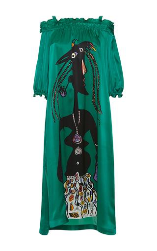 Medium rossella jardini green fausto printed oversize dress