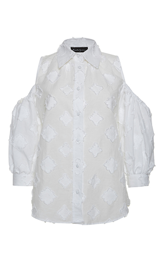 Medium rossella jardini white off the shoulder collar shirt