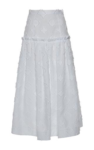 Medium rossella jardini white gathered skirt